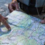 Orientierung mit Karte